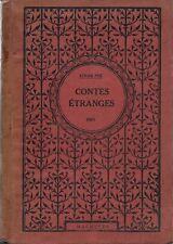 RARE CARTONNAGE LAFITTE & HACHETTE EDGAR ALLAN POE + J.WÉLY : CONTES ÉTRANGES