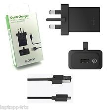 GENUINE SONY BLACK FAST QUICK CHARGER UCH10 XPERIA Z5 COMPACT PREMIUM Z5 Z3+ M4