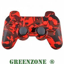 Custom PS3 Controller Hydro Dipped Red Camouflage Shell Mod Kit+Matching Buttons