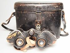 6x30 GERMAN MILITARY WAR ISSUED LEITZ WETZLAR DIENTSGLAS H/6400 BINOCULARS LEICA