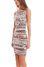 NWT Mara Hoffman Fringe photo print Midi Dress XS 0 2 Made in USA
