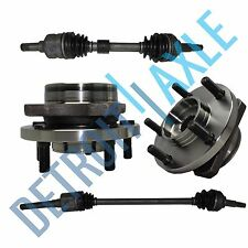 "Front Driver and Passenger CV Axle Shafts + 2 Wheel Hub Bearings 15"" 16"" 17"" Whl"