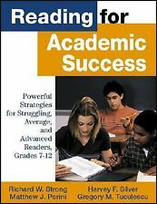 Reading for Academic Success: Powerful Strategies for Struggling, Aver-ExLibrary