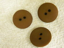 25 NEW 1 INCH DULL FINISH  CHOCOLATE BROWN BUTTONS