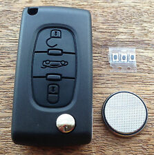 Peugeot 207 307cc 308 407 SW Remote Flip Key Fob FULL Repair Kit C3bwg