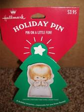 Vintage Hallmark Christmas Angel  Pin NIP 1995 Holiday Doll MINT Praying Girl