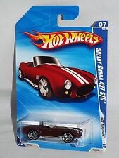 Hot Wheels 2010 Hot Auction Series #165 Shelby Cobra 427 S/C Burgundy w/ 10SPs