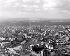1945 WW2 Aachen Germany Aerial View WWII Photo FL126