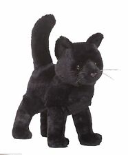 "Black Cat plush stuffed animal Midnight 9"" Douglas Cuddle Toy soft kitten"
