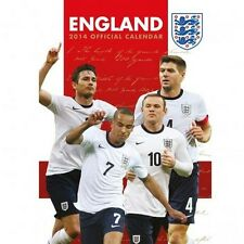England National Team 2014 Calender Football Soccer new Three Lions FA