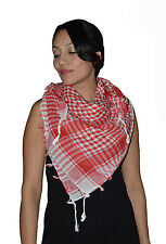 Shemagh Scarf Shawl Arab Fashion Scarf Purple Freedom Head Cover hijab Red&white