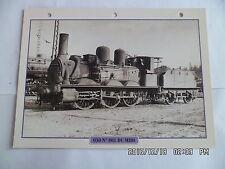 CARTE FICHE TRAIN 030 N°801 DU MIDI