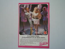 advertising Pubblicità 1989 BARBIE MATTEL