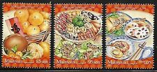 2017 MALAYSIA FESTIVAL FOOD SERIES CHINESE (3v) MNH