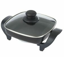Deni Non-Stick 8 x 8  Electric Skillet with Glass Lid
