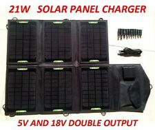 High Efficiency Outdoor Waterproof 21W Foldable Solar Panel Portable Charger-New