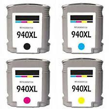 HP 940XL C4906AN HP 941XL C4907AN C4908AN C4909AN Reman Ink Cartridges w/chip