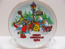 Smurf Plate The Smurf Carolers Wallace Berrie Company 7 Inch 17 cm Vintage 1982