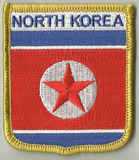 NORTH KOREA FLAG EMBROIDERED PATCH BADGE