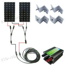 300W Complete Kit : 2*160W Photovoltaic Mono Solar Panel for 12V Home Batte