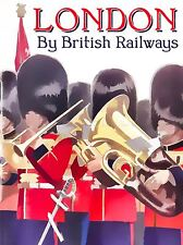 TRAVEL LONDON ENGLAND SCOTS GUARDS BEARSKIN HAT MARCHING BAND POSTER LV4052