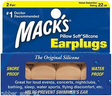 Mack's Beige Pillow Soft Silicone Earplugs x 2 Pairs