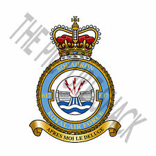 617 SQUADRON DAMBUSTERS RAF BADGE / CREST ON A TEA / COFFEE COASTER. 9cm X 9cm