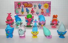 New 2016 film Trolls - 10 mini figures + all bpz from Russia Chupa Chups