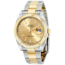 Rolex Datejust 41 Champagne Dial Steel and 18K Yellow Gold Oyster Mens Watch