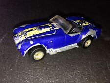 Classic Cobra Real Riders blue with yellow stripes Mexico 1:64 Hot Wheels