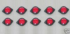 10 pcs x 24V 4 LED Side Markers RED Indicators Lights Truck Lorry Trailer Bus