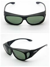 Mens/Womens POLARIZED WEAR FIT OVER GLASSES GOGGLE SUNGLASSES Smoke Lens