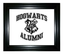 HARRY POTTER HOGWARTS ALUMNI CUT VINYL WALL ART STICKER /  DECAL/ FRAME EXCLUDED