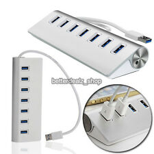 High Speed 5Gbps 7-Port USB 3.0 Hub Aluminum Adapter Splitter Cable For PC Mac