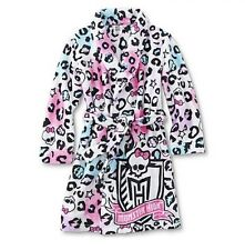 MONSTER High Soft Plush Leopard Colored Bathrobe Girl's 10/12 NEW Bath Robe