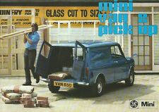 Mini (Leyland Cars) Van & Pick Up Brochure 1975 In Good Condition 8 Pages