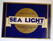 1920s Sea Light Carpinteria Citrus Crate Label