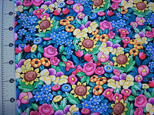 *Mary Engelbreit   Bright *  Cotton quilting fabric* BTY Floral Wow***USA