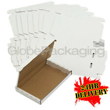 200 x WHITE PIP LARGE LETTER CARDBOARD POSTAL MAIL BOXES 160x110x20mm PHONES ETC