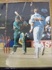 11/01/1996 Cricket Press Photograph: England's Dominic Cork Claims The Wicket Of