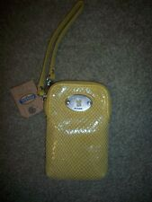 Fossil Perfect Carryall SL4044741Mineral Yellow Leather Multi-Funct Wristlet NWT