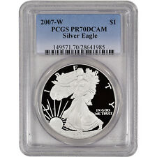 2007-W American Silver Eagle Proof - PCGS PR70 DCAM