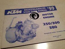 KTM 250 300 380 99 engine moteur spare parts list pièce détachée SX EXC EGS MXC