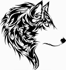 TRIBAL WOLF ANIMAL NATURE WILD VINYL DECAL STICKER CAR TRUCK LAPTOP ANY SURFACE