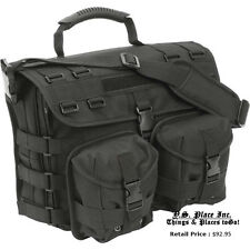 Black Heavy DutyTactical Military Laptop Field Briefcase Shoulder Bag