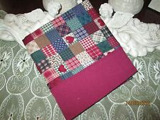 COUNTRY COTTAGE PRIMITIVE AMERICANA PATCHWORK PLAID HEARTS DESIGN PILLOWCASE
