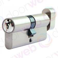 EURO CYLINDER THUMB TURN Door Lock Barrel 5 Pin Lock ALUMINIUM 70mm T35/35 UPVC