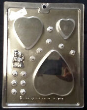 Wedding Cake Kit 3-D Heart Shaped Chocolate Plastic Candy Soap Mold  LOP V-147