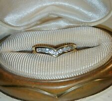 Ross Simons 18k Yellow Gold/Sterling silver Engagement guard Enhancer ring Band