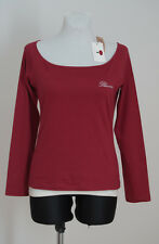 WOMENS BLUMARINE TOP SHIRT LONG SLEEVE COTTON L LARGE RED BNWT MODEL W48